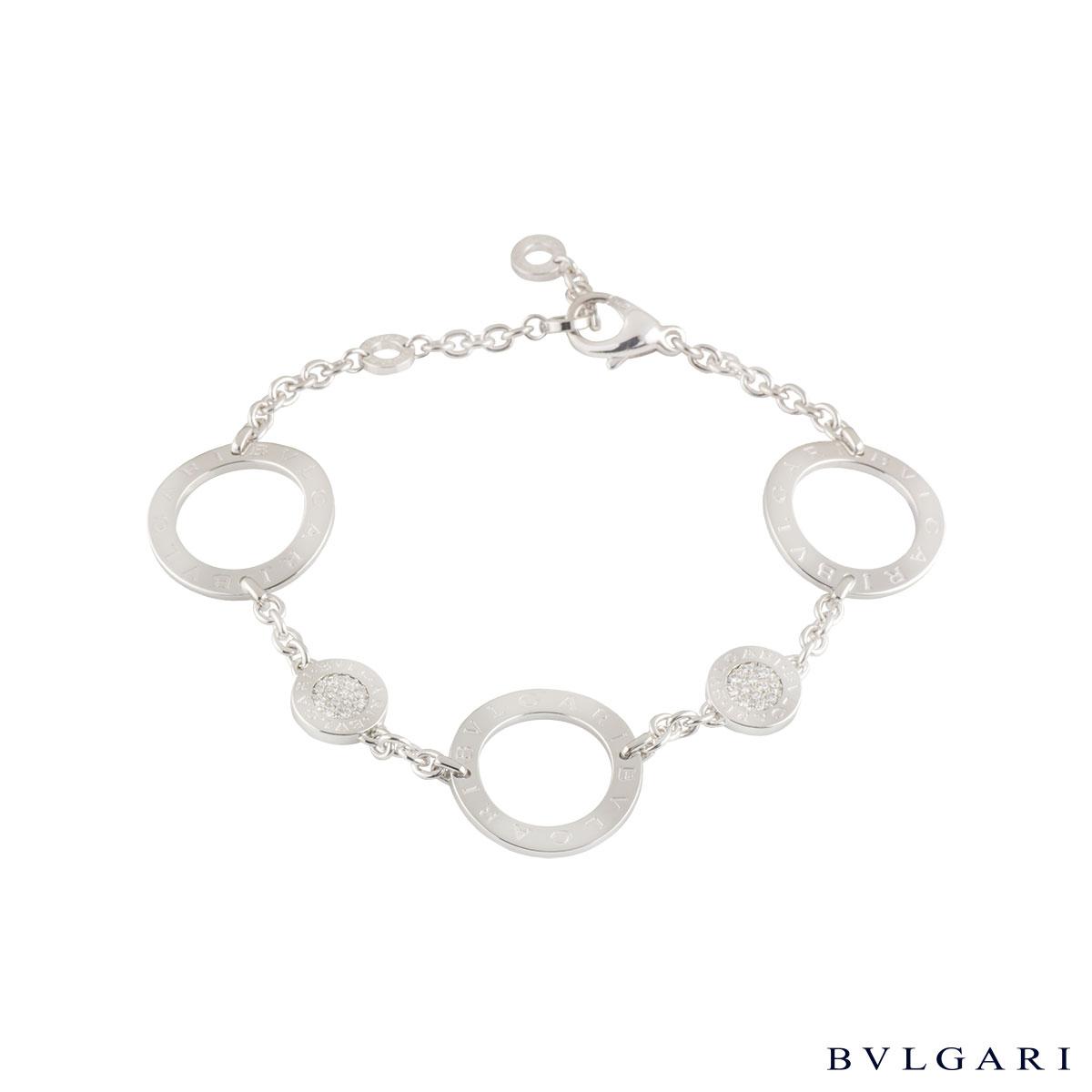 Bvlgari Bvlgari White Gold Diamond Bracelet
